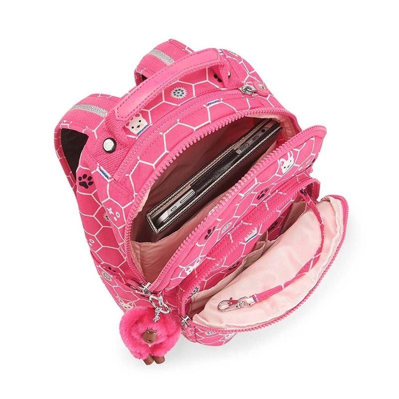 6a2d621fe00 mochila kipling seoul go rosa pink dog tiles. Carregando zoom.