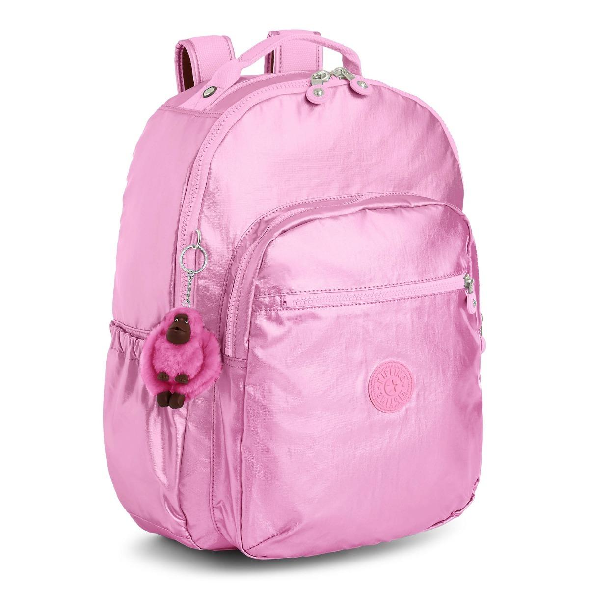 422eae271 Mochila Kipling Seoul Go Tamaño Large Rosa Metalico - $ 2,295.00 en ...