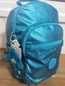 eb927c363 Mochila Kipling Seoul Azul - Calçados, Roupas e Bolsas Azul no Mercado  Livre Brasil