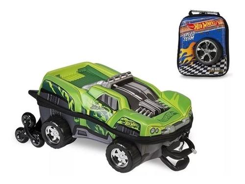 mochila + lancheira 3d max toy hot wheels dawgzilla