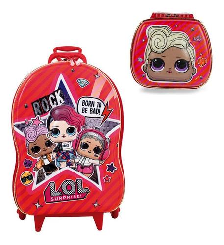 mochila + lancheira 3d max toy lol mc