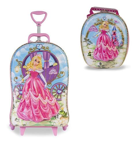 mochila + lancheira 3d max toy meg princess
