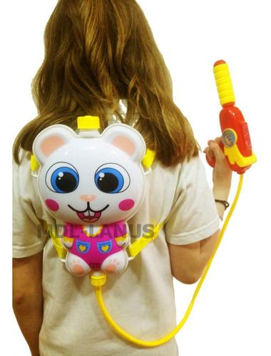 mochila lanza agua pistola de agua gata blanca para chicos