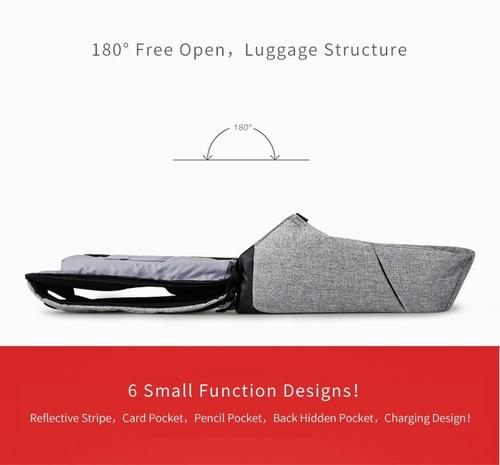 mochila laptop viagem casual impermeável - zipper anti-furto