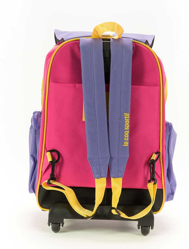 mochila le coq sportif colors wheels backpack- fuccia niños