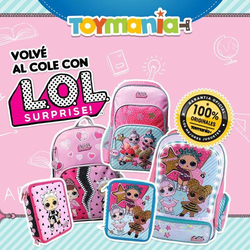 mochila lol surprise 3d espalda 18 plg. (lol-1bb)  original