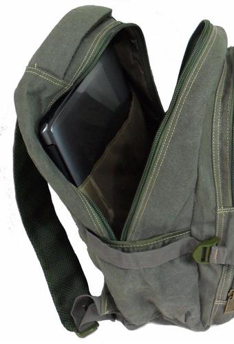 mochila lona resistente escolar trabalho masculino feminino