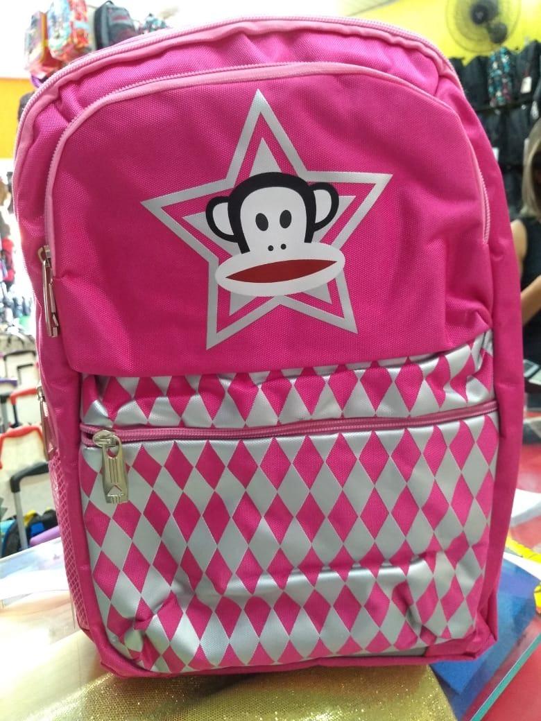 cdcde5af0 mochila macaquinho escolar volta as aulas paul frank rosa. Carregando zoom.