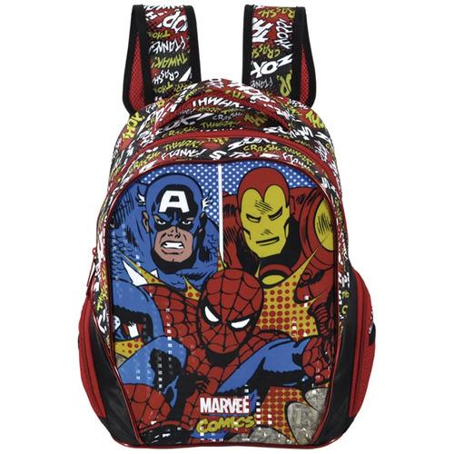 mochila marvel homem aranha capitão comics legends g - 6312