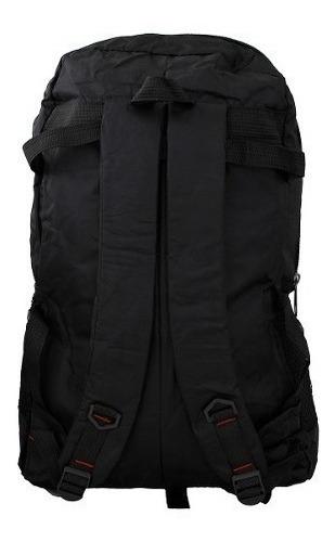 mochila masculina impermeável preta caveirão sport 50 litros