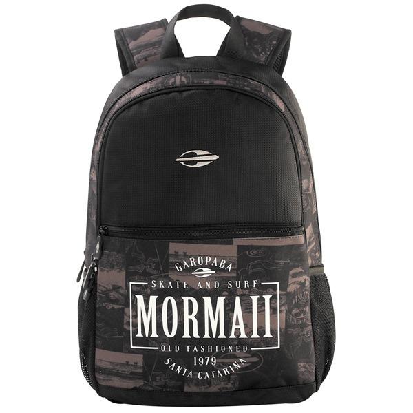 fae0684f3 Mochila Masculina Mormaii Old School Preta Marrom Original - R$ 189 ...