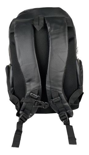 mochila masculina motociclista impermeável resistente couro