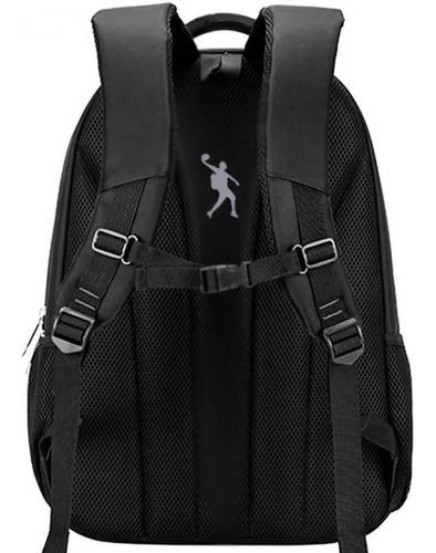 mochila masculina preta impermeável resistente com usb