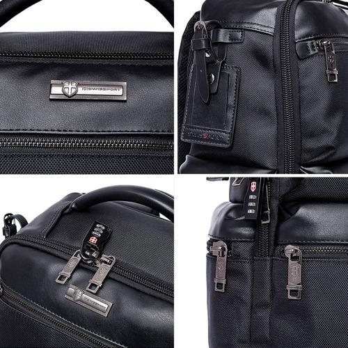 mochila masculina reforçada notebook c/ cadeado swissport