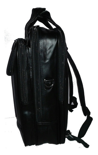 mochila masculina resistente água preta couro ecológico moda