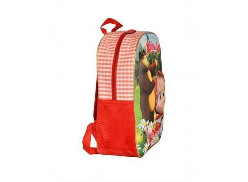 mochila masha e o urso vermelha santino - 800203