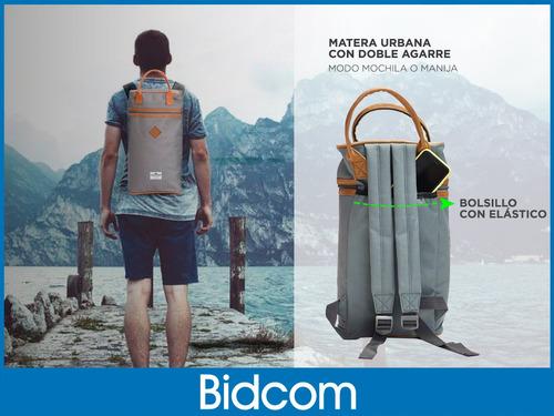 mochila matera gadnic bolsillo externo separador interno 8l