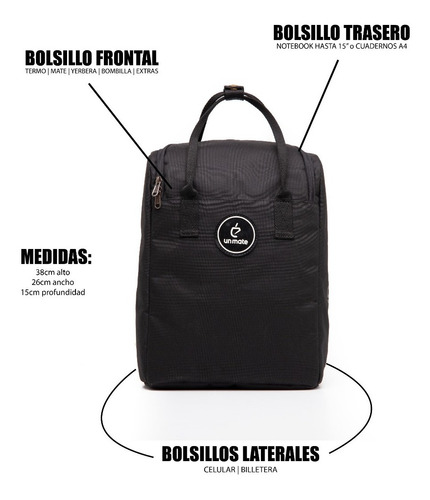 mochila matera para notebook - black