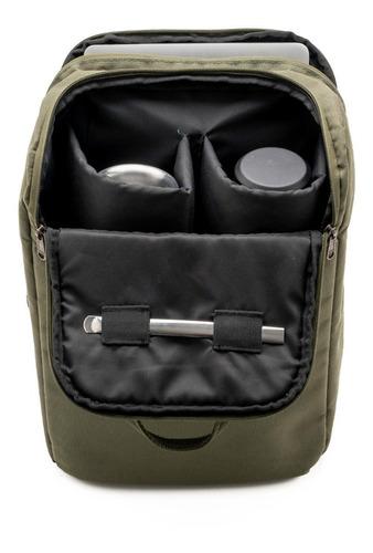 mochila matera para notebook - militar