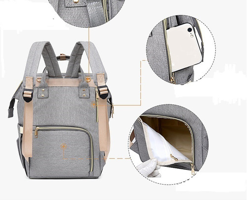 mochila maternal+cambiador de regalo. importada