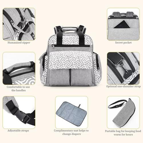 mochila maternal diseño unico + mudador