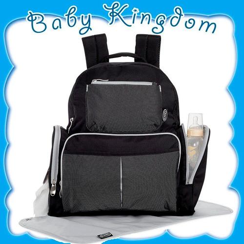 mochila maternal organizador pañalero graco para bebe nuevo