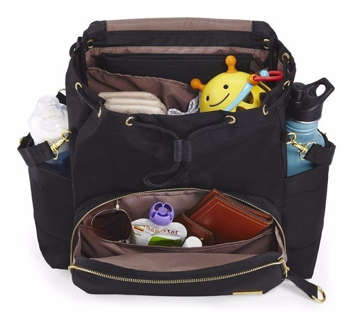 mochila maternal para embarazadas chelsea black skip hop