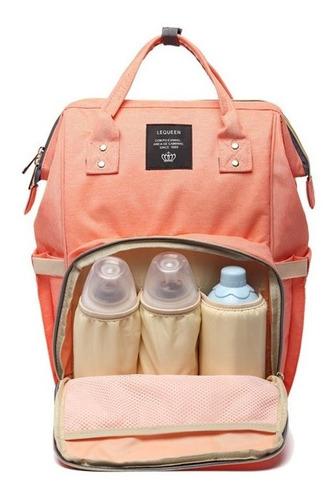 mochila maternidade lequeen bolsa bebê mamadeira fralda