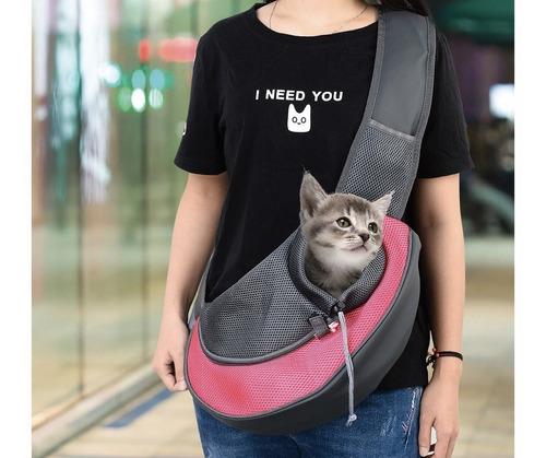 mochila messenger backpack para perros gatos transporte