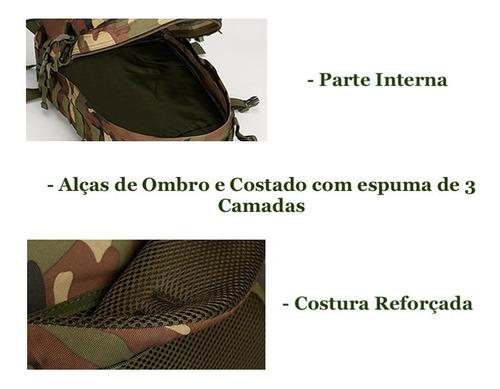 mochila militar camuflada assault 40l nota fiscal original
