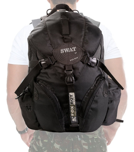 mochila militar camuflada tatica camping 30l preta bolsa top