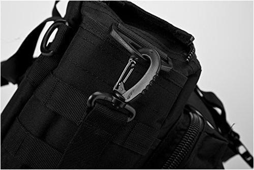mochila militar para hombro táctica mariconera negra full