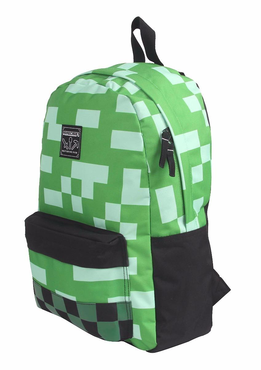 6cf9dfbd9 Mochila Minecraft Green Blocks + Lancheira + Estojo Dmw - R$ 368,90 ...