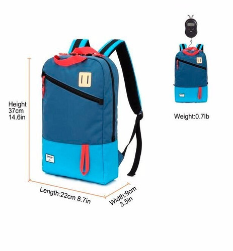 mochila mobox casual 15.6  /tablet color azul con celeste