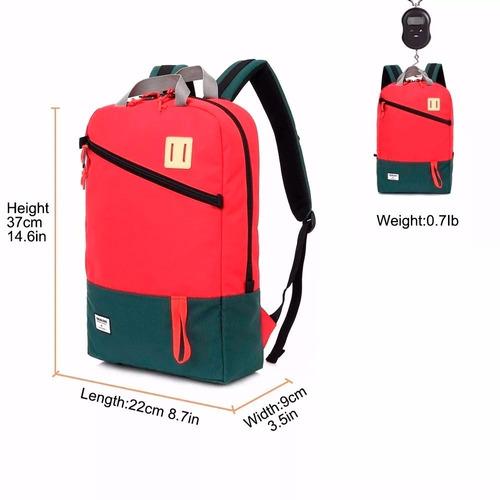 mochila mobox casual 15.6  /tablet color roja con gris