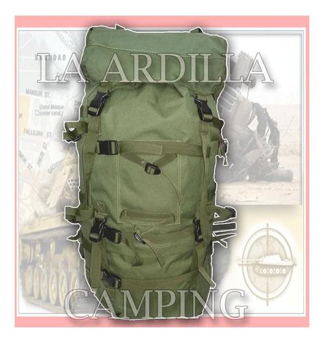mochila mochilero 80 litros mod montaña ejercito arg 529986