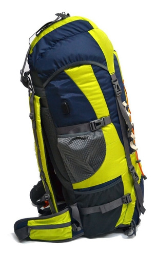 mochila mochilero alpine skate camping 90 litros varillas