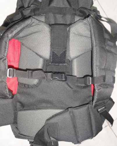 mochila mochilero camping 50 litros reforzada acolchada gara