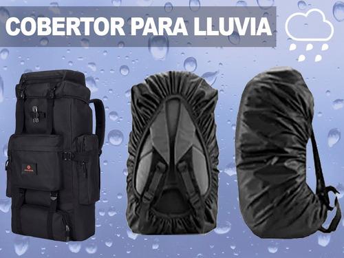 mochila mochilero camping 70 litros trekking montaña senderismo gran capacidad de carga + cobertor lluvia de regalo
