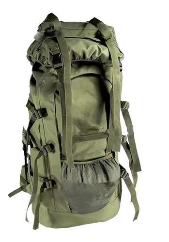 mochila mochilero camping 80 litros militar c/ varillas