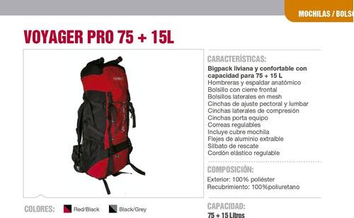 mochila mochilero camping nexxt impermeable 75 +15 palermo º