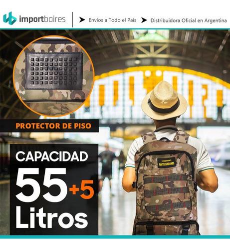mochila mochilero camping travesia montaña urbana premiun  50 / 55 litros excursion trekking resistente viajes