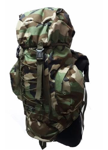 mochila mochilero camuflada militar 50 litros impermeable