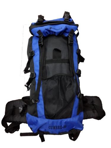 mochila mochilero cumbre 60 lts espaldar acolchada varillas