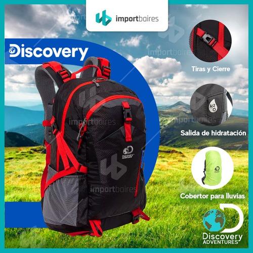 mochila mochilero discovery camping 40 litros nylon risptop