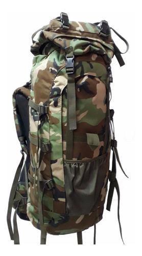 mochila mochilero militar 80 litros militar varilla aluminio