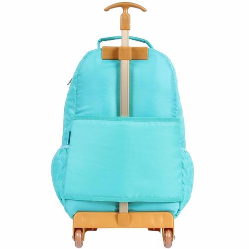 mochila / mochilete capricho azul tifanny 48897 original
