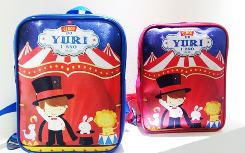 mochila mochilinha infantil personalizada circo