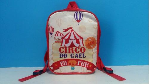 mochila mochilinha infantil personalizada circo encantado