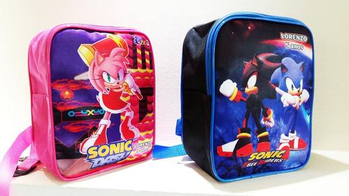 mochila mochilinha infantil personalizada sonic